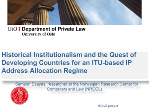 Historical Institutionalism and the Quest of Developing