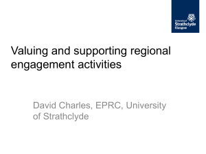 `Valuing and supporting regional engagement activities` – by David