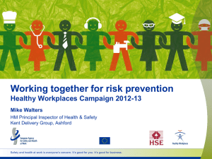 Working Together for Risk Prevention