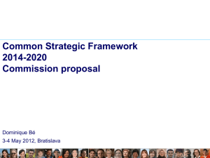 Common Strategic Framework 2014-2020 Commission