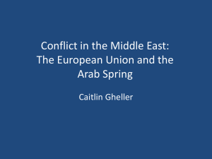 Caitlin Gheller The EU and the Arab Spring PPT