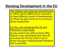 Revising Development in the EU – UK and Poland