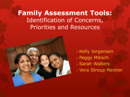 Family Assessment Tools - Kansas Inservice Training System