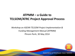 ATPMM – a Guide to TELSOM/ATRC Project Approval Process