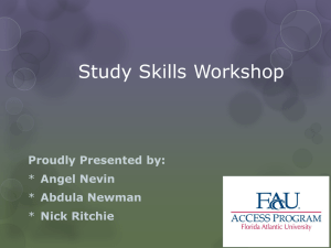 Study Skills Workshop