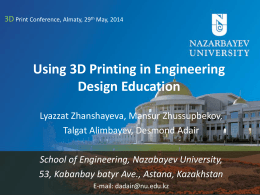 Using 3D Printing in Engineering Design Education - Smile-Expo