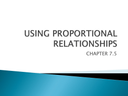7.5 using proportional relationships