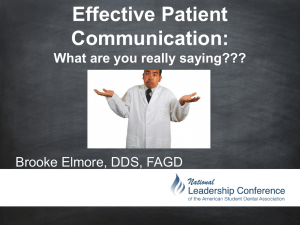 How to Effectively Communicate with your Patients