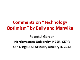 Comments on *Technology Optimism* by Baily and Manyika