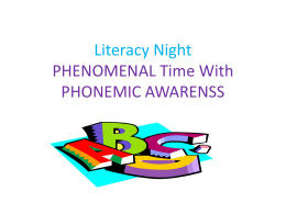 Power Point-PHENOMENAL time with PHONEMIC AWARENSS