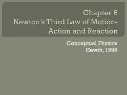 Chapter 6 Newton*s Third Law of Motion