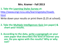 Kramer-Fall 2013 - TheGHHSMediaCenter