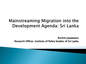 Roshini Jayaweera - Institute of Policy Studies