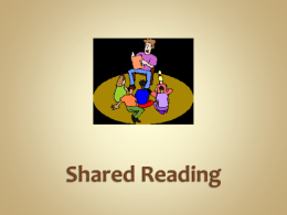 Shared Reading Overview - Index of /tech/education