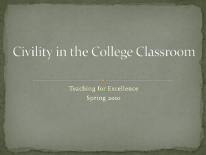 Civility in the College Classroom