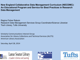 New England Collaborative Data Management