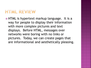 HTML Review - My Course Web Page!