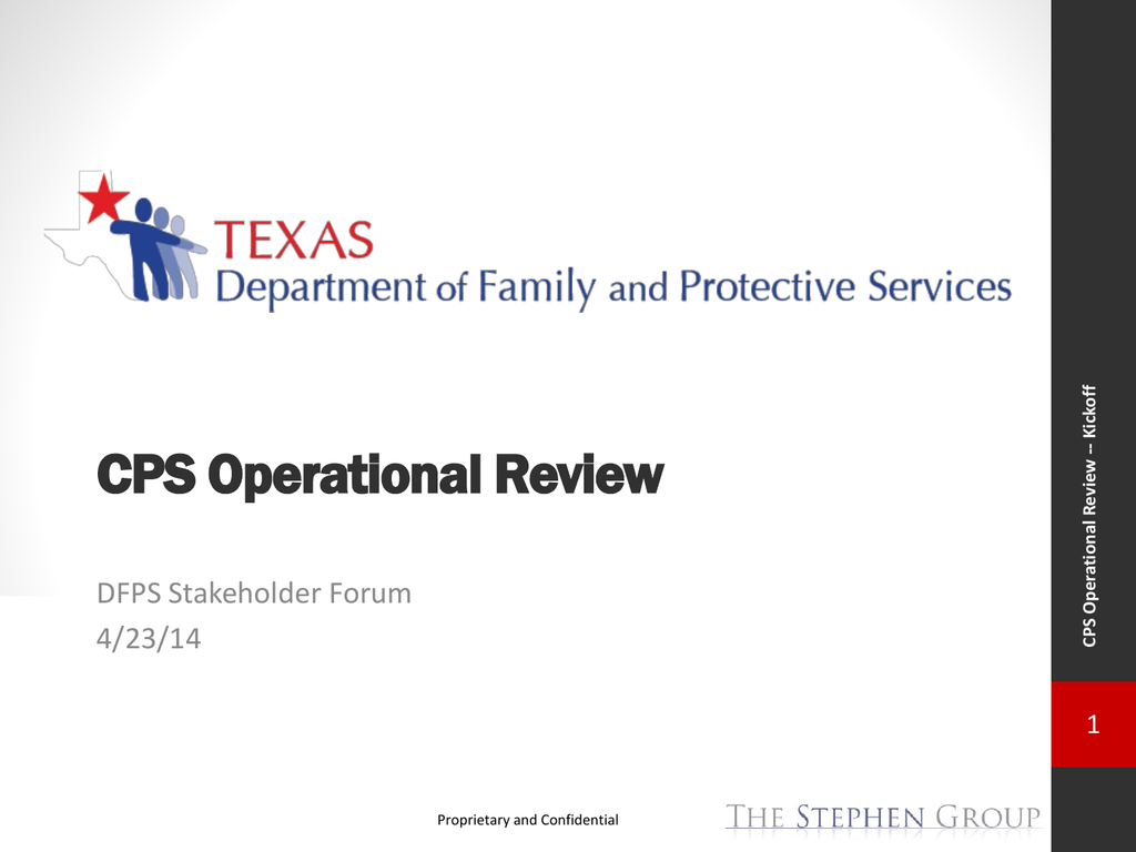 CPS Operational Review - Texas Department of Family and