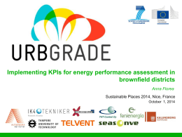Implementing KPIs for energy performance assessment in