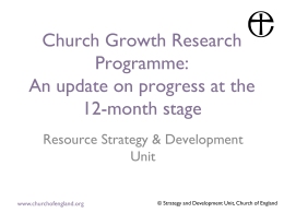 Church Growth Research Programme