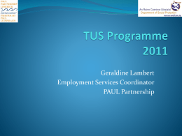 TUS Programme - PAUL Partnership