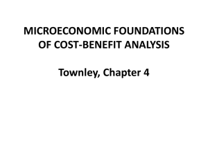 Microeconomic Foundations of Cost Benefit in ppt (Townley Chap 4)