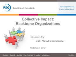 The Backbone Essential for Collective Impact
