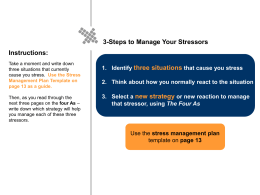 Corporate Leadership Council-Benefits Stress Management Guide