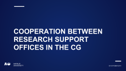 Cooperation between Research support offices in the cg