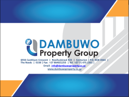here - Dambuwo Property Group