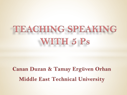 PowerPoint Sunusu - Middle East Technical University