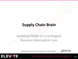 RIMS Supply Chain Brain