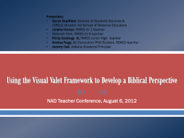 Using the Visual Valet Model to Develop a Biblical Perspective