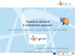 Firewall on Demand multidomain A top-down approach