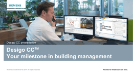Desigo CC Your milestone in building management