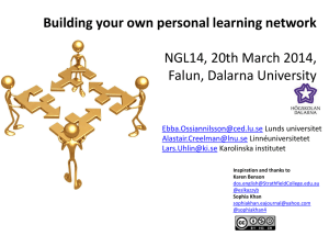Building your own personal learning network (workshop)