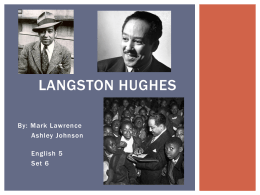 Langston Hughes English Presentation Set 6 1