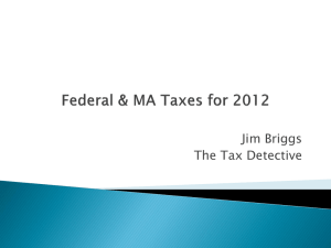 Federal Tax Returns and Verification for 2012-2013