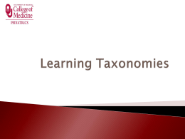 Learning Taxonomies - the Biology Scholars Program Wiki