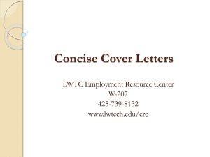 Cover Letter - Lake Washington Institute of Technology