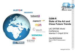 GSM-R - UIC ERTMS World Conference 2014