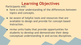 Concept Based Instruction PPt. - OA & BCIG Community School