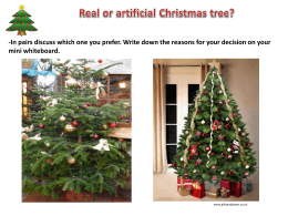 Real or artificial Christmas tree?