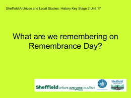 What are we Remembering on Remembrance Sunday