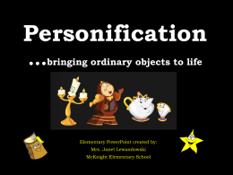 Personification - North Allegheny School District