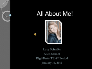 All About Me- PowerPoint