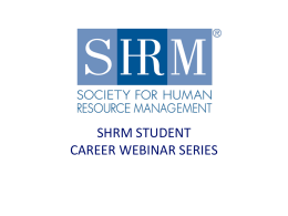 Behavioral Interviewing-SHRM-