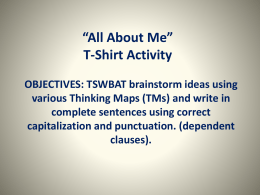 All About Me T-shirt Activity PPT