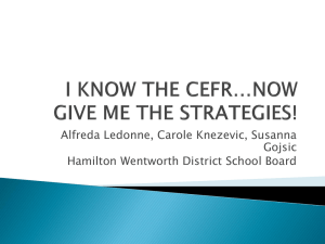 I KNOW THE CEFR*NOW GIVE ME THE STRATEGIES!