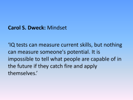 Modelling a Growth - Mindset